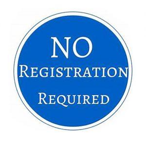 no registration required