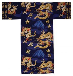 navy dragon yukata