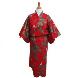 red crane yukata