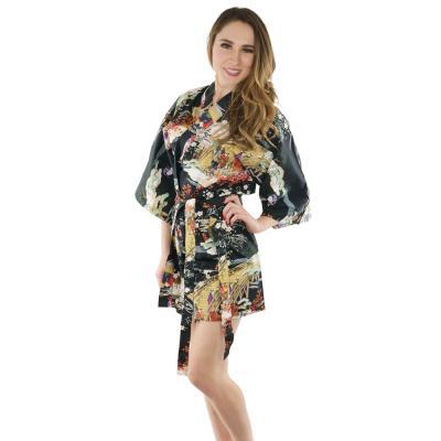 black summer kimono