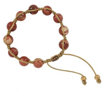 red jasper shamballa bracelet