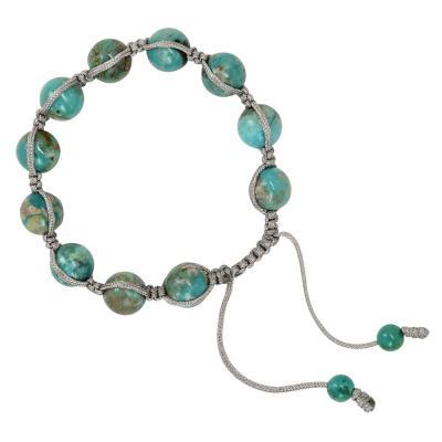 shamballa bracelet in turquoise