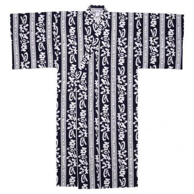 navy haiku design mens yukata
