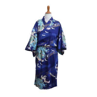 navy kimono