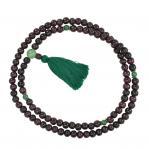 rosewood mala bead necklace